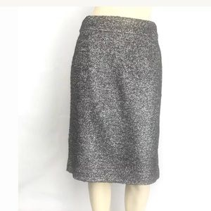❤️J. Crew Pencil Skirt Black with Shimmer Size 8❤️